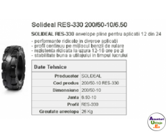 Anvelopa plina stivuitor RES-330 200/50-10/6.50 Quick